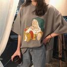 卡通印花短袖T恤女春季免運新款寬松學生韓...
