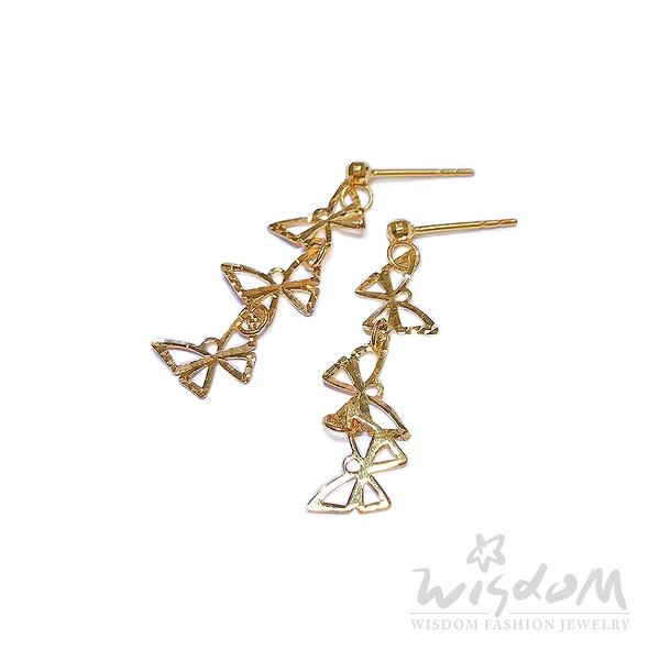 威世登 戀蝶-5G黃金耳環 金重約0.60~0.63錢 GF00323-AGEX-FIX