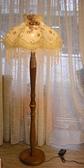 落地型歐式南瓜抬燈~可微調燈罩上直徑21cm下直徑58cm總高160cm(不可拆洗)