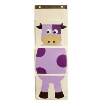 佶之屋 可愛卡通創意棉質三口掛袋(4款) 乳牛