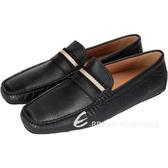 BALLY 黑色經典織帶牛皮樂福鞋 1240191-01