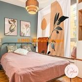 莫蘭迪背景布ins風掛布網紅房間臥室床頭布置墻面裝飾背景墻墻布【大碼百分百】