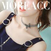 蝴蝶結項鍊項圈女頸帶韓版頸鏈鎖骨鏈日韓 LQ1718『夢幻家居』