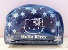 【震撼精品百貨】Hello Kitty 凱蒂貓~Hello Kitty日本SANRIO三麗鷗KITTY透明化妝包/筆袋-黑花黑*01064