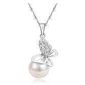 項鍊 925純銀珍珠吊墜-迷人精緻生日情人節禮物女飾品73fy124【時尚巴黎】