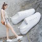 小白鞋夏季爆款透氣小白鞋女鞋子新款薄款百...