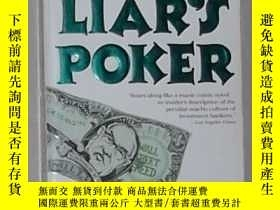二手書博民逛書店英文原版罕見Liar s Poker by Michael Le