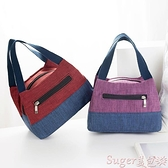 便當包 新款手提包女布包帆布大容量防水便當包飯盒袋拎袋小布包媽咪包 suger