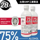 台灣GMP工廠製造75%酒精清潔液500ml(28罐組)加贈3支噴頭
