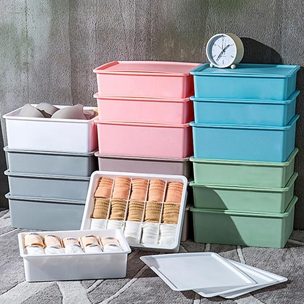 家用塑料衣柜內衣收納盒