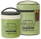 Fine style【日本代購】和式 保溫罐 保冷 二重真空 0.3L附提袋LJFC3-二色