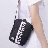 KUMO SHORE Adidas LINEAR 腰包側背包斜背包小包小方包 黑S99975