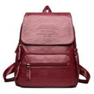 後背包 雙肩包女包青年學生書包新款韓版潮流軟面PU皮學院風跨境旅行背包