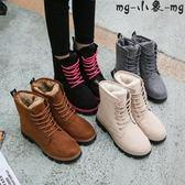 雪地靴短筒平底棉鞋靴子棉靴