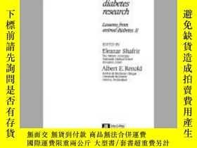 二手書博民逛書店Frontiers罕見in Diabetes Research (Lessons from Animal Diab