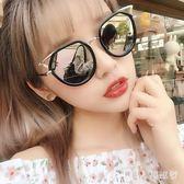 墨鏡 女韓版潮 復古原宿簡約貓耳朵反光太陽鏡軟妹眼鏡 DR3080【男人與流行】