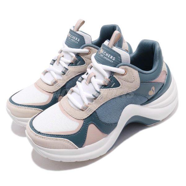 Skechers 休閒鞋 Solei ST-Groovy Sole 藍 粉紅 白 增高鞋 女鞋 【PUMP306】 74190BLMT