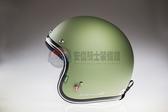 [中壢安信]中野NAKANO NJ-01B 素色 平光軍綠 半罩 復古帽 安全帽 買就送防水耐磨鏡