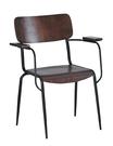 【南洋風休閒傢俱】餐椅系列 - 美式鐵藝咖啡扶手木座餐椅(A728B) CX934-15
