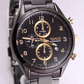 【萬年鐘錶】WIRED  耶誕限定款 三眼多功能計時碼錶   7T92-X273SD (AF8U29X1)