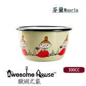 芬蘭 Muurla-moomin 嚕嚕米 300cc 小不點 綠色 琺瑯小碗 (#171303014)