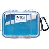 美國 PELICAN 派力肯 塘鵝 1020 Micro Case 微型防水氣密箱-透明 藍色 公司貨