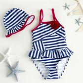兒童泳衣 女童公主連身裙式泳裝 嬰幼兒小寶寶溫泉 名購居家