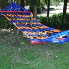 網狀帶木棍吊床戶外室內外帆布彩虹條漁網秋千樹床 設計師生活百貨
