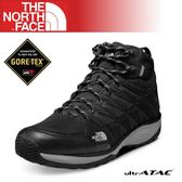 【The North Face 男 GORE-TEX中筒登山健行鞋《黑/金屬銀》】A2T41/登山/健行/防水透氣