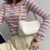 白色小眾腋下包女法棍包包