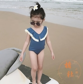 可愛寶寶游泳衣泳裝連體泳衣女童泳衣【橘社小鎮】