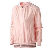 Adidas FEM JKT WV 女裝 外套 慢跑 休閒 輕薄 拉鍊口袋 粉 【運動世界】DM5311