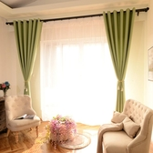 純色棉麻窗簾成品簡約現代全遮光布料亞麻客廳臥室落地窗飄窗紗簾   LannaS