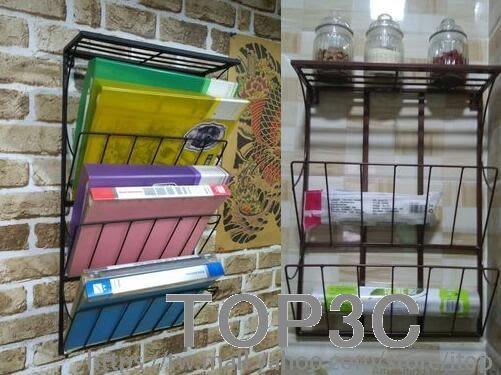 鐵藝 壁掛書報架 辦公室雜志報刊架報紙架書架置物架收納架書「Top3c」