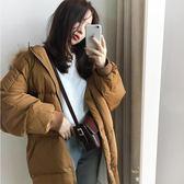 棉襖女新款冬天羽絨棉服外套韓版寬鬆面包服bf加厚中長款 摩可美家