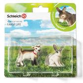 特價 Schleich 史萊奇動物模型小羊 & 兔子