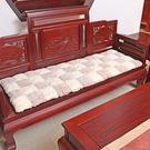 紅木沙發墊歐式四季坐墊椅墊子榻榻米加厚加大長毛絨墊可拆洗