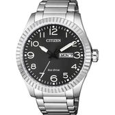 CITIZEN 星辰 限量光動能休閒手錶-灰x銀/42mm BM8530-89E