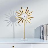 家居飾品擺件現代簡約創意北歐水晶石金屬客廳玄關書房工藝品輕奢ATF 青木鋪子