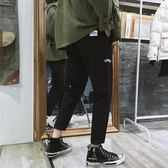 日系黑色直筒工裝褲男潮牌寬鬆學生九分褲春季百搭潮流休閒褲長褲