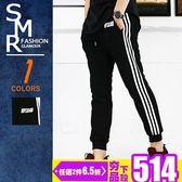 棉褲-UPSOR高磅三線條棉褲-高磅厚棉百搭款《9997505》黑色【現貨+預購】『SMR』