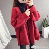 針織外套 網紅款毛衣女開衫外套秋裝新款很仙的針織衫上衣寬鬆慵懶風厚