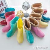 雨鞋女 女雨鞋女士春秋韓國時尚果凍中短筒雨靴防水防滑水鞋大碼膠鞋 Cocoa