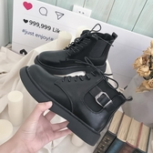 馬丁靴女春季新款百搭韓版夏季短靴平底女式單鞋子短筒