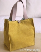 便當袋 原創可愛日繫飯盒袋便當包環保燈芯絨秋冬甜美手提拎學生帶飯 伊莎gz