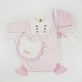 【愛的世界】純棉點點鋪棉長袖兩用嬰衣禮盒/3~6個月-台灣製- ★禮盒推薦