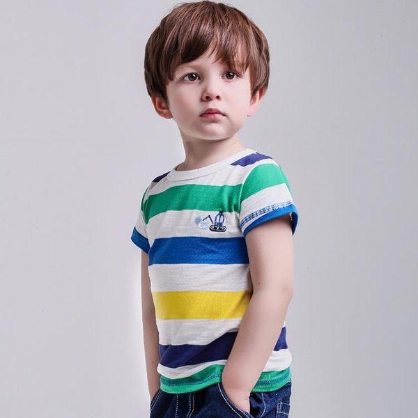 雙11搶購 2018新款男童T恤短袖純棉4歲寶寶夏款體恤3女童兒童半袖嬰兒上衣5