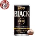 金時代書香咖啡【UCC】BLACK無糖咖啡(185gx30入) UC185-30BK