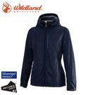 【Wildland 荒野 女 輕量天鵝絨防風保暖外套《深藍》】0A72913/夾克/運動外套/抗風防潑水