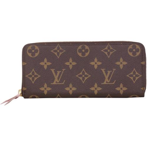 Louis Vuitton LV M61298 Clemence 經典花紋拉鍊長夾.粉 全新 預購【茱麗葉精品】